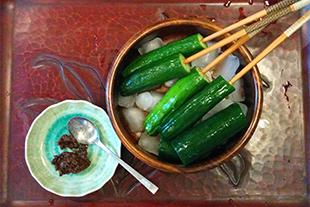 胡瓜と自家製味噌画像