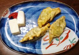 ネバネバ夏餃子と塩豆腐の画像